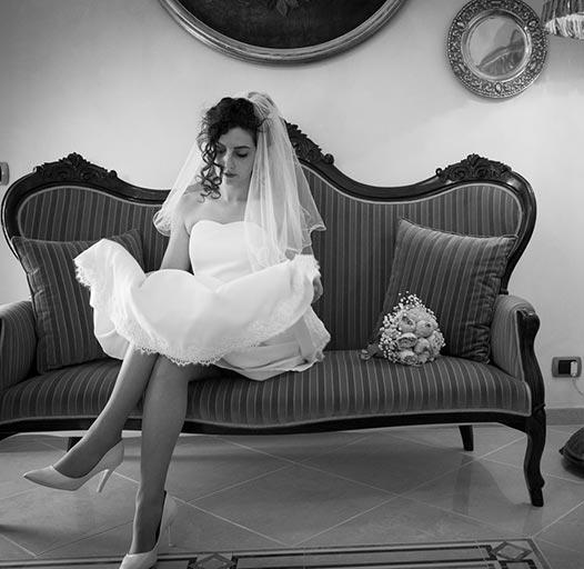 fotografia di matrimonio in bianco e nero a Genova Pegli