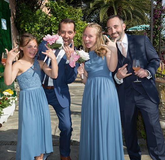 Claudio Beduschi, American weddings in Liguria