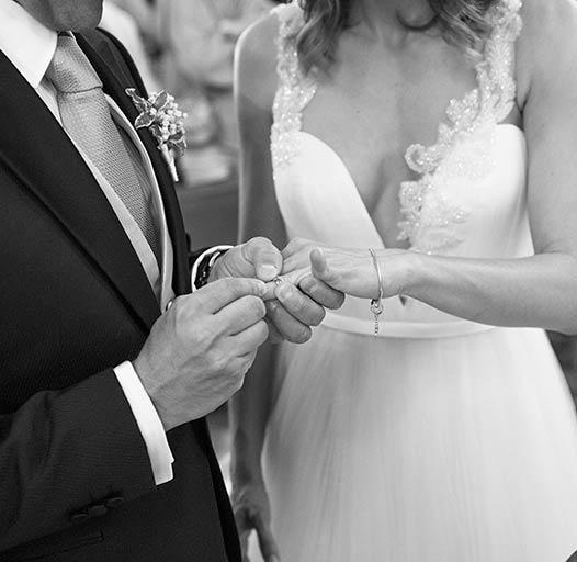 matrimonio in bianco e nero a Camogli